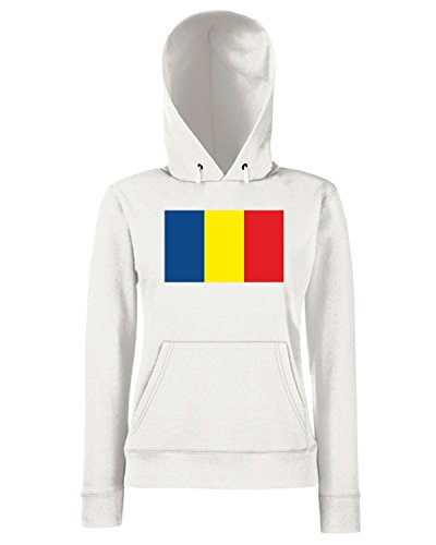 T-Shirtshock - Sweats a capuche Femme TM0155 Andorra flag Blanc