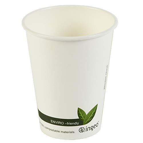 Dis-po kompostierbar Hot Drink Cups 12oz/340ml-Sleeve von 50-biologisch abbaubar Takeaway Kaffeetassen -