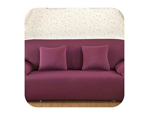 Agust D Solid Color Elastic-Sofa-Abdeckung Spandex Moderne Polyester Ecksofa Couch Husse Stuhl Schutz Wohnzimmer 1/2/3/4 Seater, Farbe 19,1-Sitz 90-140cm - Stuhl Deckt Leder