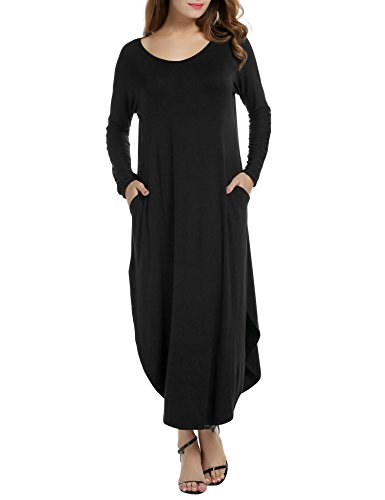 ACEVOG-Womens-Solid-Long-Sleeve-Pocket-Loose-Casual-Maxi-Dress-Plus