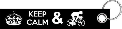 Preisvergleich Produktbild Keep calm and bike radfahren radfahrer fahrrad Schlüsselanhänger Schlüsselband Keyholder Lanyard