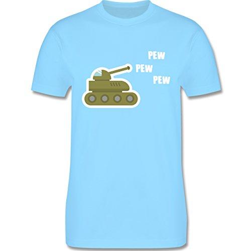 Andere Fahrzeuge - Pew Pew Panzer - Herren Premium T-Shirt Hellblau