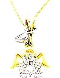 4bdebe7a0f4b Pegaso Joyería – Collar oro amarillo 18 kt cadena Veneta – Colgante Ángel  corazón – ángel