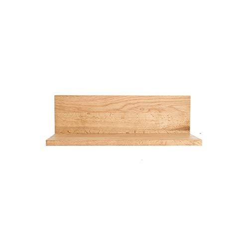 L-förmige Speicher (Wandregal Festes Holz, Das L-förmige Wand-Regal-Anzeigen-Speicher-Dekorations-Regal , Für Wohnzimmer, Schlafzimmer (Farbe : White oak))