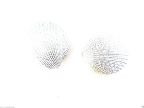 2 x Pinces à cheveux argent véritable Sea Shell mariée sirène Boho Plage Lames M02 * * * * * * * * exclusivement vendu par – Beauté * * * * * * * *