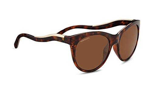 Serengeti Eyewear Erwachsene Valentina Sonnenbrille, Shiny Red Moss Tortoise, Medium