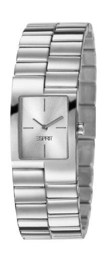 Esprit ES106082002 - Reloj analógico de cuarzo para mujer con correa de acero inoxidable, color plateado
