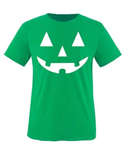 Kostüm Junge Frankenstein - Comedy Shirts - Kuerbisgesicht - Halloween - Jungen T-Shirt - Grün/Weiss Gr. 152-164
