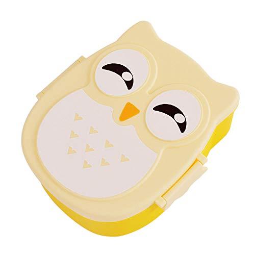 chenqian1 Bento Box Tragbare Lunchbox 3 Schicht Weizenstroh Lunchbox Mikrowelle Geschirr Kinder Picknick Vorratsbehälter Lunchbox @ 15,5X14X6,6 cm