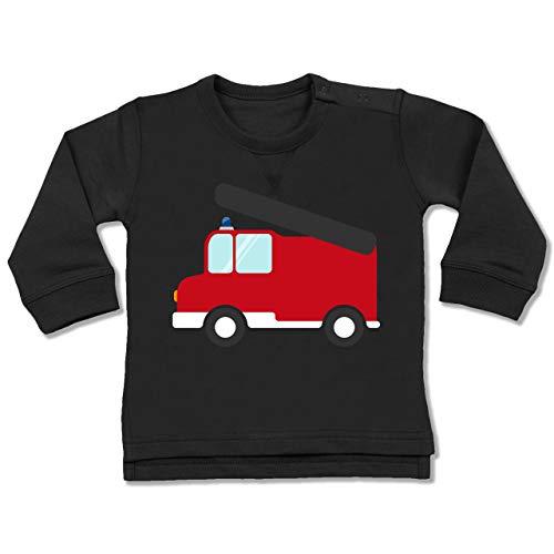 Shirtracer Feuerwehr Baby - Feuerwehr Auto - 18-24 Monate - Schwarz - BZ31 - Baby Pullover