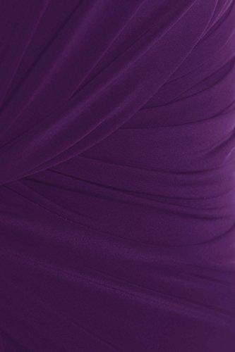 Nouveaux Femmes Grande Taille Twist Knot Groupe longue maxi robe de soirée 44-54 purple