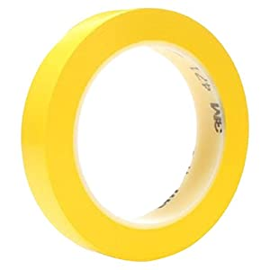 3M Vinyl Tape 471 – Yellow soft making tape for marking, colour-coding and paint masking, 25 mm x 33 m - 36 rolls of yellow marking tape