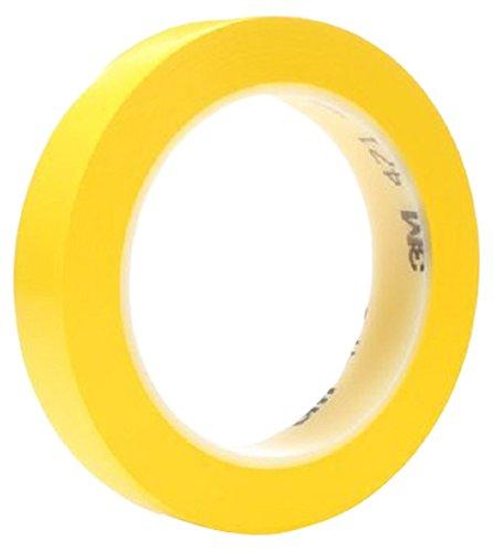 Preisvergleich Produktbild 3M Weich-PVC-Klebeband 471 – Hochwertiger PVC-Klebefilm zum Abdecken und Markieren in Gelb mit Gummi-Harz-Kleber,  25mm x 33m,  0, 12mm – 36-er-Pack