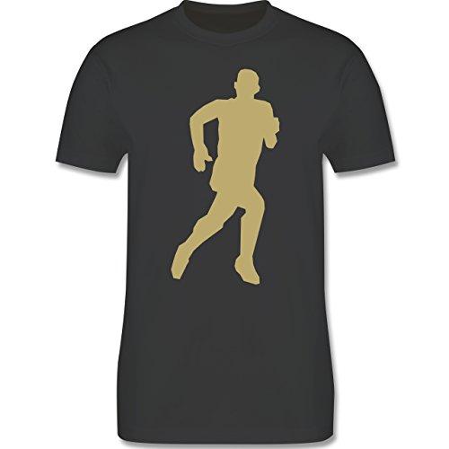 Laufsport - Laufen - Herren Premium T-Shirt Dunkelgrau