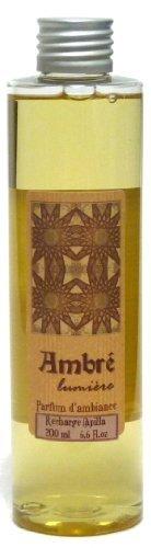 Provence et Nature: Recharge pour Diffuseur de Parfum avec Tiges - Parfum: Ambré, 200 ml