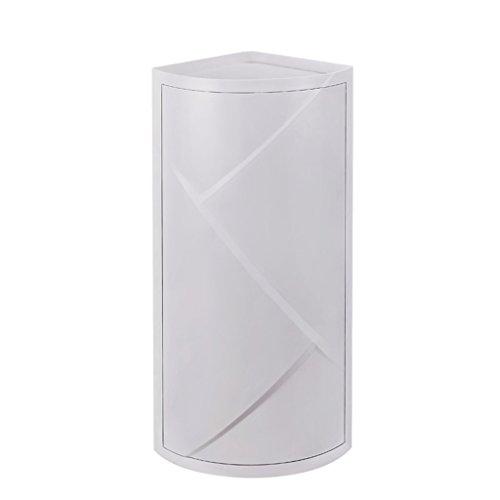 Liyan-bathroom shelves formato di immagazzinaggio del rack scaffale di plastica bagno doccia ruotabile bianco accessori per bagno bianco avorio dimensioni (21 * 21 * 60.5 cm) (colore : #1)