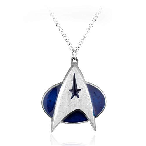 Halsketten für Herren Hot Movie Cosplay Fashion Schmuck Star Trek Logo Necklace Marvel Comic Series Pendant for Women Men Chriatmas Gift