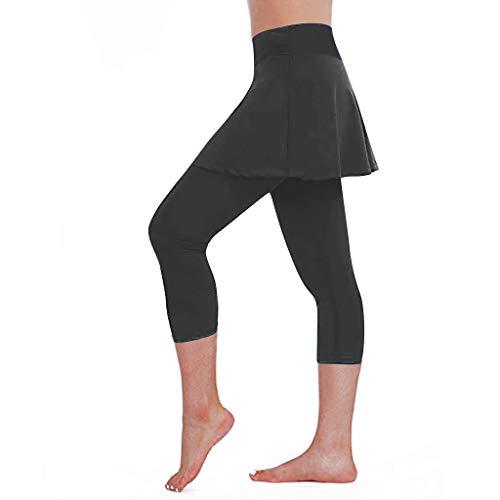 MakefortuneFrauen jederzeit lässig sportlich Stretch Skort Rock mit Leggings für Tennis Golf Workout ausgeführt -