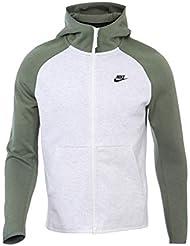 Nike Sportswear Tech Fleece Sudadera, Hombre, Gris (Birch Heather/Vintage Lichen), M