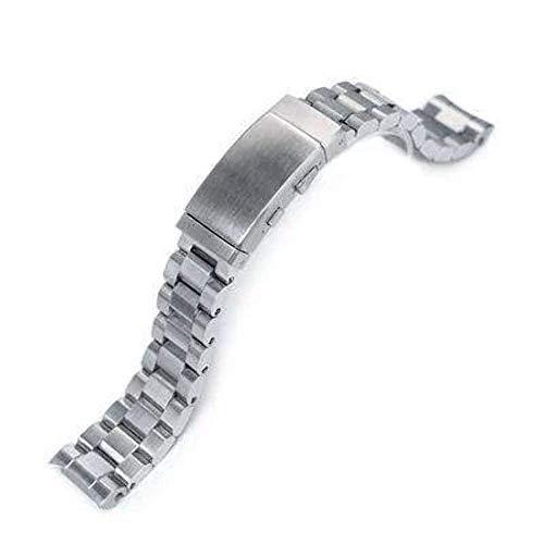 Strapcode Uhrenarmband 20mm Hexad Oyster 316L Edelstahl Uhrenarmband für Seiko MM300 Prospex Marinemaster SBDX001, Neoprenanzug-Ratschenschnalle