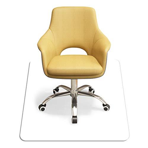 COSTWAY Bodenschutzmatte aus PVC, Schutzmatte transparent, Unterlegmatte zum Bodenschutz, Bürostuhlunterlage 2 Größen zur Wahl (120x120cm)