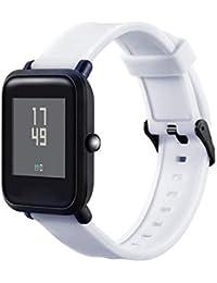 JKfine - Correa para Xiaomi Amazfit Bip Youth Watch - Banda de Suave Silicona Pulsera de