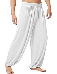 ZARLLE_Pantalones Pantalones de Yoga/Pilates para Hombre, Yoga Pantalones Bombachos Modales Sueltos Pantalones de Sudor de…