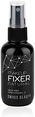 Swiss Beauty MakeUp Fixer Natural Aloe Vera with Vitamin-E, Face MakeUp, White, 50ml