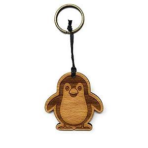 Schlüsselanhänger Pinguin aus Holz optional mit individueller persönlicher Gravur !