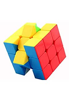 Shankh Traders high Speed Smooth Edge stickerless Rubiks Cube 3x3 Puzzle Game Toy (1 Piece)