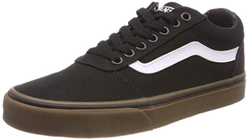 Canvas Lace Up Schuhe (Vans Herren Ward Canvas' Sneakers, Schwarz Black/Gum 7hi, 47 EU)