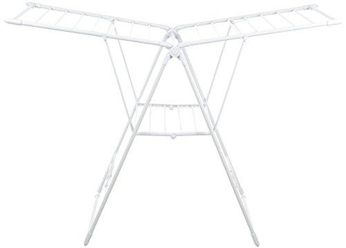AmazonBasics - Tendedero de ropa, con alas - Blanco