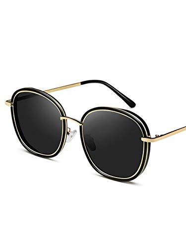 RNG 2019 Neue Sonnenbrille weibliche koreanische Version der Flut Sonnenbrille net rote Brille rundes Gesicht Anti-UV-Stern Retro-Stil