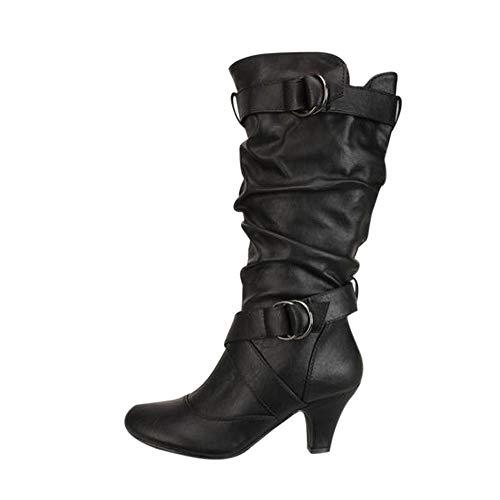 Stiefel Damen Julywe Frauen Overknee Hoher Pfennigabsatz Lange Oberschenkel Schuhe Stiefel Mode Sexy