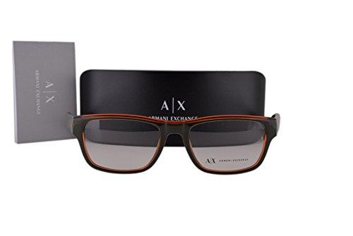 Armani Exchange AX3018 Brillen 53-18-140 Armee-Grün Mit Demonstrationsgläsern 8142 AX 3018