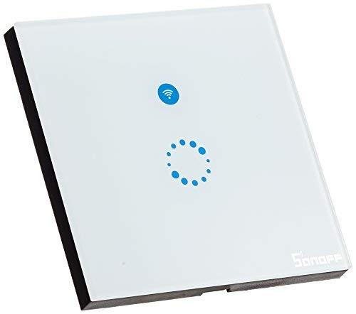 Interruptor Wifi Sonoff, Wi-Fi Interruptor de Luz Táctil, Templado Panel de Luz...