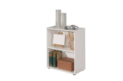 Links - Simply 9 libreria. Dim. 60x30x75h cm. Nobilitato. Bianco.