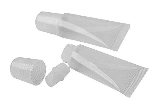 Hustar 15ml Flacon Baume à Lèvres Contenant Cosmétiques Vide en Plastique pour Brillant à Lèvres 10 Pièces