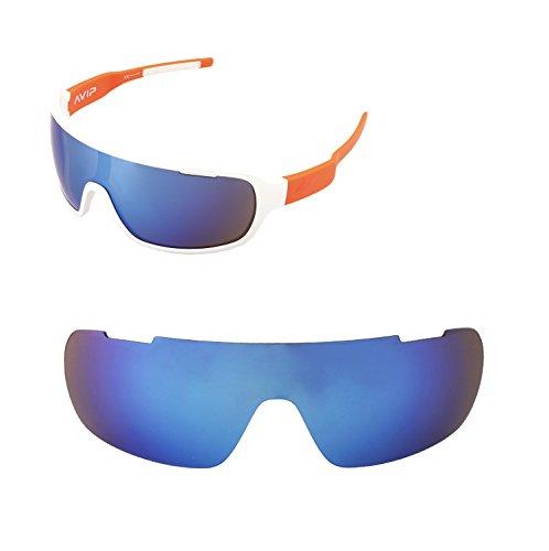 Walleva Ersatzgläser für POC Blade Sonnenbrille - Mehrfache Optionen (Eisblau beschichtet - polarisiert)