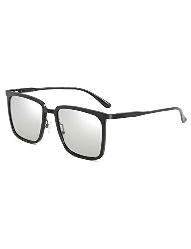 DPDH Sonnenbrillen Vintage Sonnenbrille Männer Polarisierte Quadratische Aluminium Magnesiumlegierung Sonnenbrille Fahrer Fahrspiegel Polaroid Gläserblack photochromic