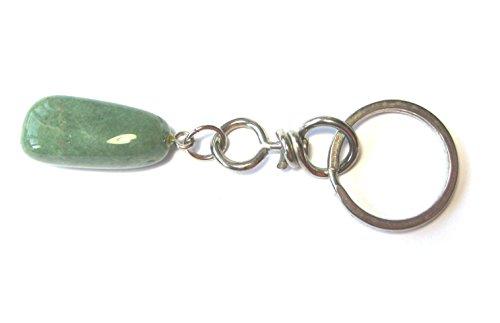 Preisvergleich Produktbild Schlüsselanhänger Trommelstein Aventurin Aventurinquarz grün 2,5-3 cm