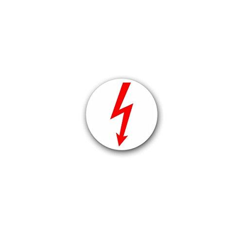 Copytec Aufkleber/Sticker -Elektro Blitz Strom Hochspannung Elektriker Humor Spaß Bundeswehr Militär 7x7cm #A3102