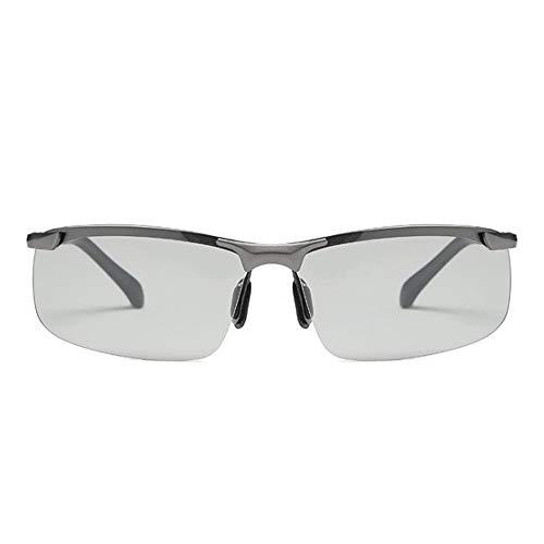 DMMW Sport-Sonnenbrillen Ziehen Sie Wind Motorrad Reitbrille Motorrad Brille Sport Sonnenbrillen, um die Augen zu schützen für Skifahren Golf Laufen Radfahren (Farbe : Grau, Größe : Free Size)