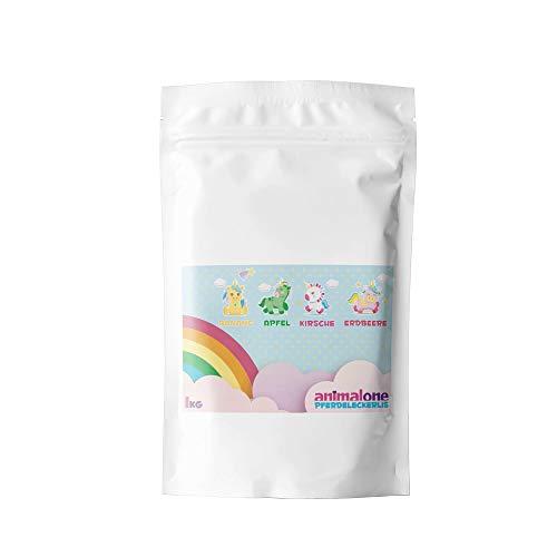 animalone - PFERDELECKERLIS Rainbow-Mix - 1 KG Beutel mit Apfel, Erdbeere & Kirsche - Das Gesunde...