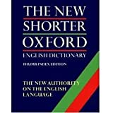 The Shorter Oxford English Dictionary (2 volumes)