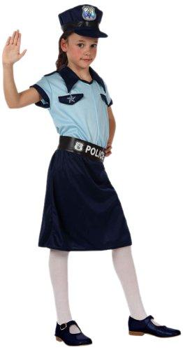 Imagen de atosa  10950  disfraz  disfraz de oficial de policía de la muchacha  tamaño 4