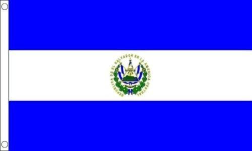 El Salvador 5ft x3ft (150cm x 90cm) 100% Poliestere Bandiera & 2 occhielli