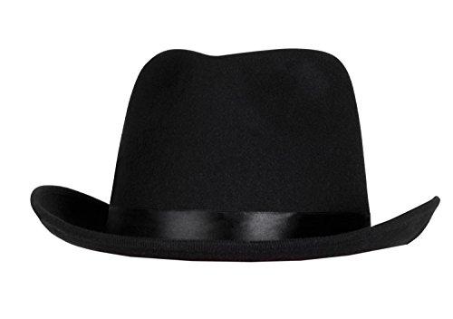 Boland 04212 - Erwachsenenhut Dwight, Einheitsgröße, schwarz (Dwights Kostüm)
