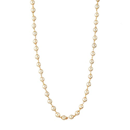 Zeneme Pearls White Pearls Magic Necklace Jewellery For Women/Girls