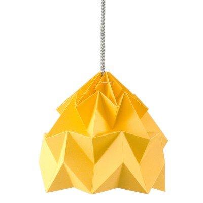 Petite Suspension Origami Moth Jaune d'or Diam 20 cm Snowpuppe